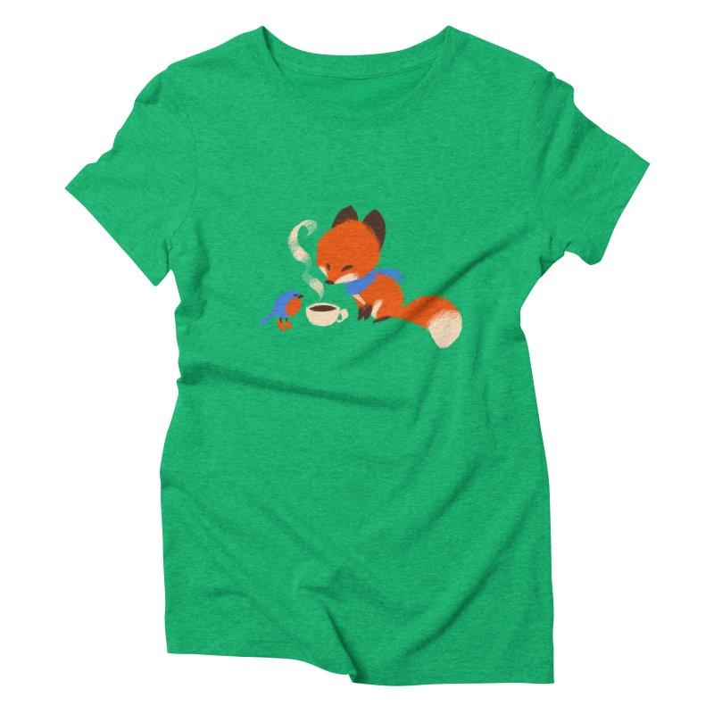 Fox & Boots: Tea Time Women's Triblend T-shirt by kayjkay's Artist Shop