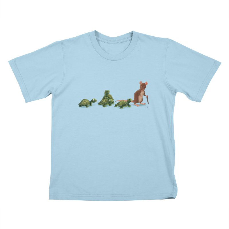 Awkward Family in Kids T-shirt Powder Blue by kayjkay's Artist Shop