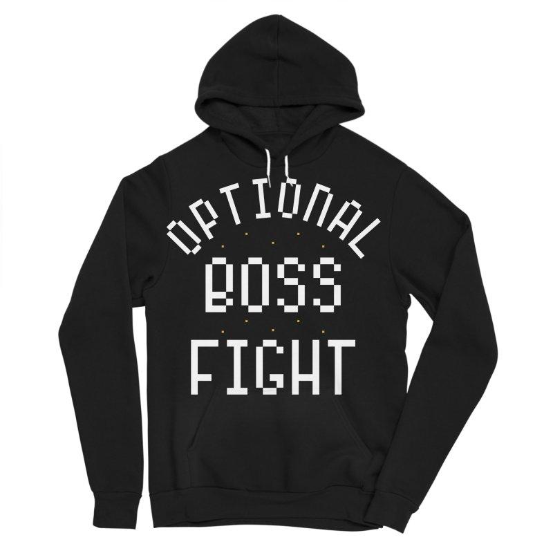 Optional Boss Fight Men's Sponge Fleece Pullover Hoody by Kaylee Pinecone's Artist Shop