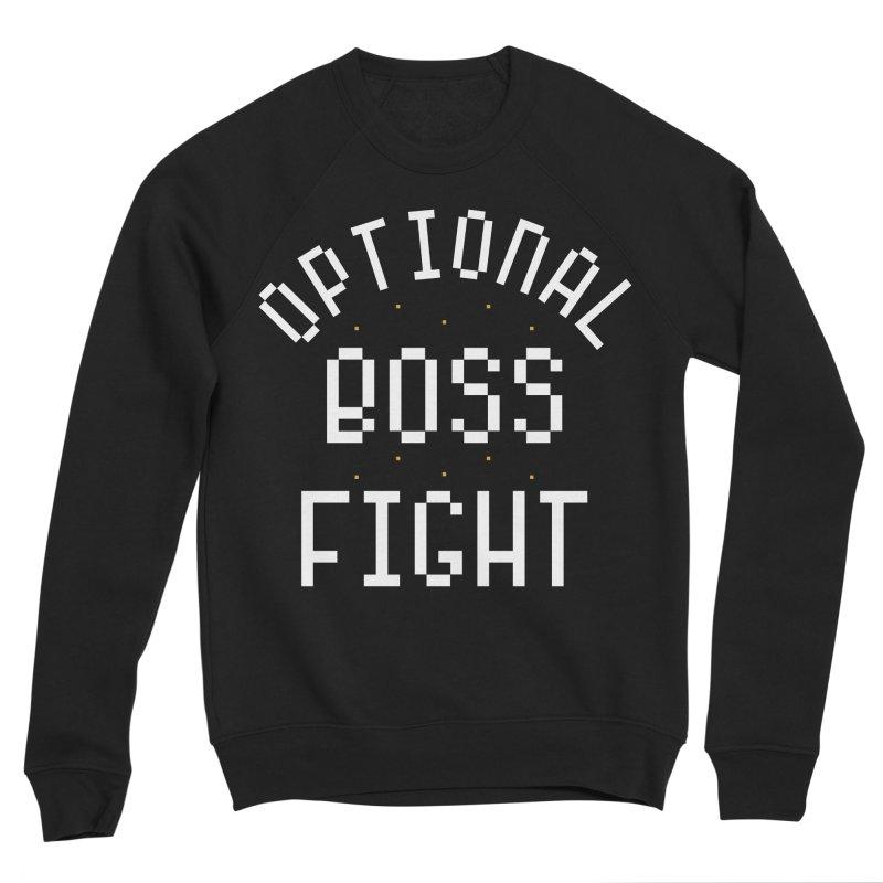Optional Boss Fight Men's Sponge Fleece Sweatshirt by Kaylee Pinecone's Artist Shop