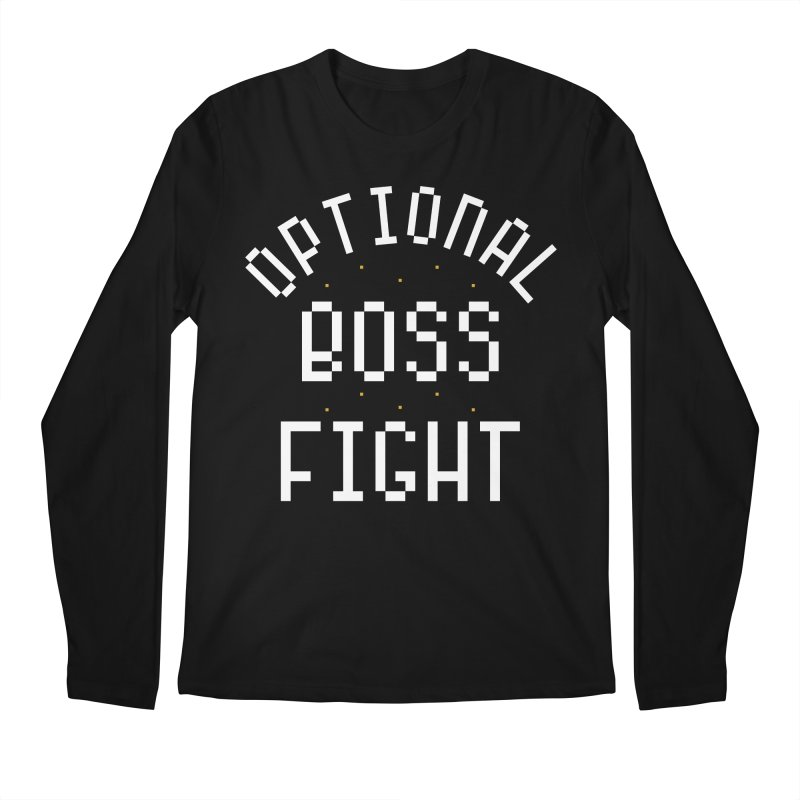 Optional Boss Fight Men's Regular Longsleeve T-Shirt by Kaylee Pinecone's Artist Shop