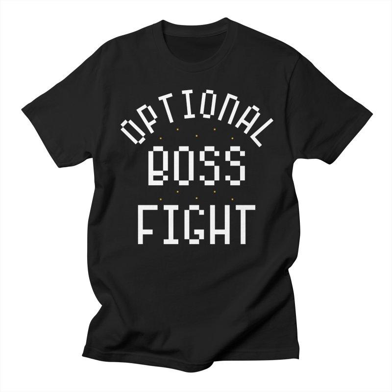 Optional Boss Fight Men's Regular T-Shirt by Kaylee Pinecone's Artist Shop