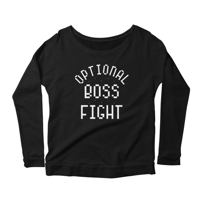 Optional Boss Fight Women's Scoop Neck Longsleeve T-Shirt by Kaylee Pinecone's Artist Shop