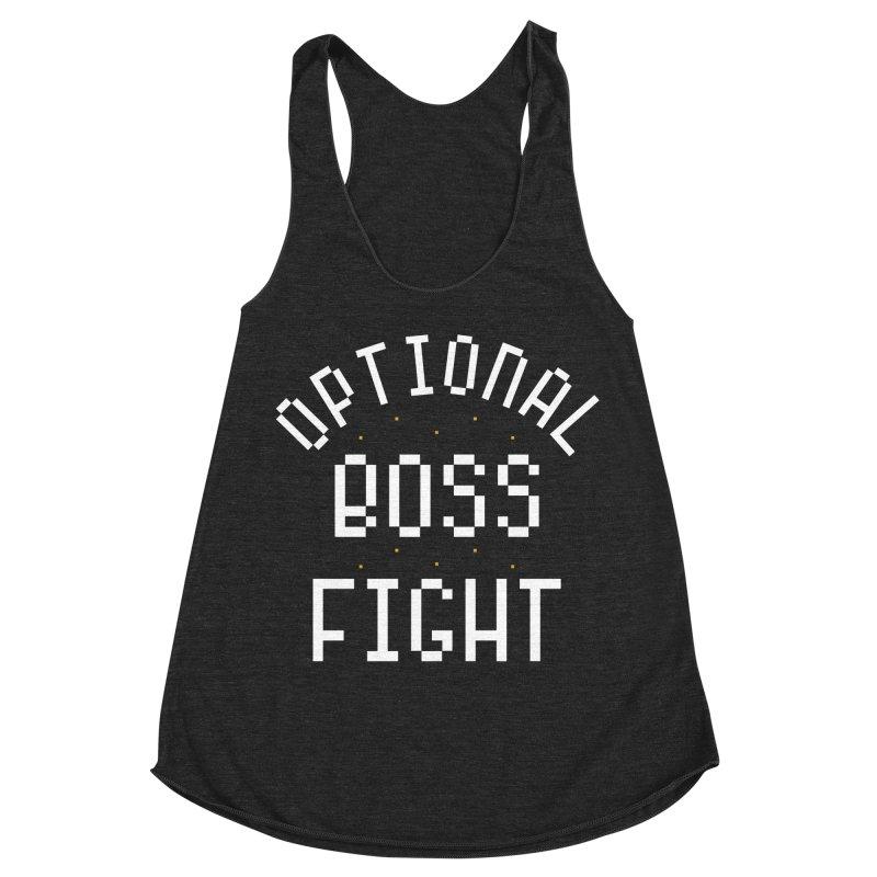 Optional Boss Fight Women's Racerback Triblend Tank by Kaylee Pinecone's Artist Shop