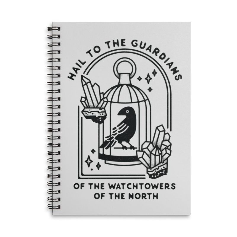 Guardians of the North Accessories Lined Spiral Notebook by Kaylee Pinecone's Artist Shop