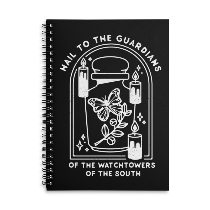 Guardians of the South Accessories Lined Spiral Notebook by Kaylee Pinecone's Artist Shop