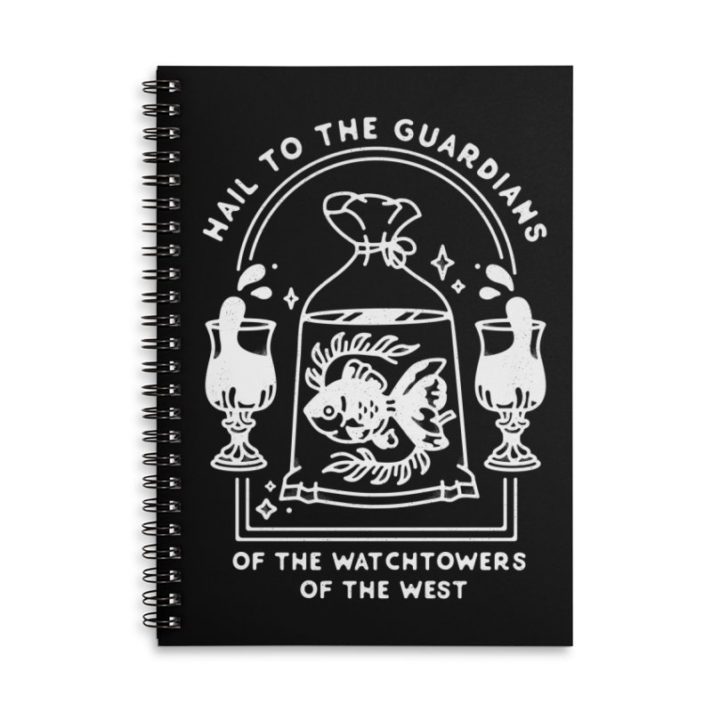 Guardians of the West Accessories Lined Spiral Notebook by Kaylee Pinecone's Artist Shop