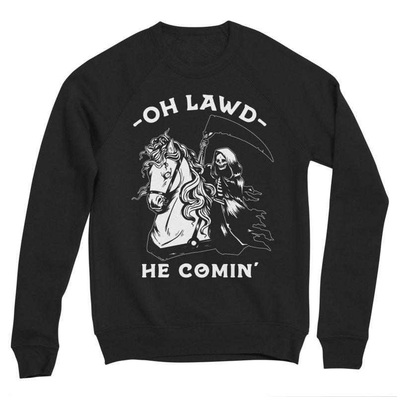 Oh Lawd He Comin' Men's Sponge Fleece Sweatshirt by Kaylee Pinecone's Artist Shop