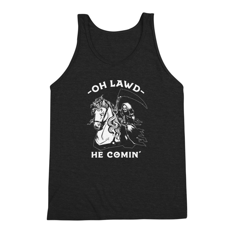 Oh Lawd He Comin' Men's Triblend Tank by Kaylee Pinecone's Artist Shop