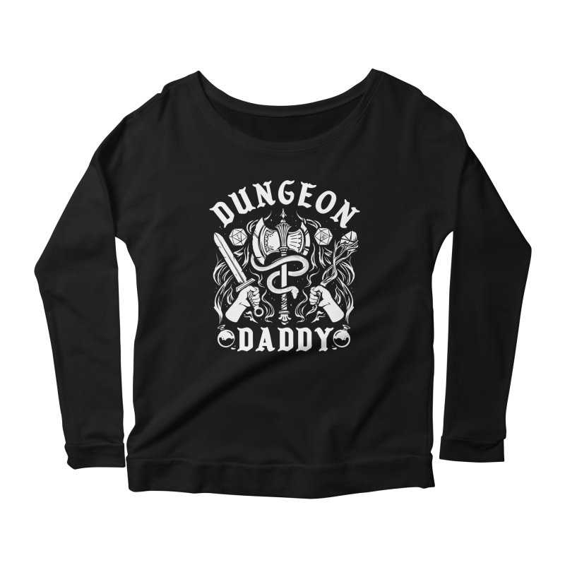 Dungeon Daddy Women's Scoop Neck Longsleeve T-Shirt by Kaylee Pinecone's Artist Shop