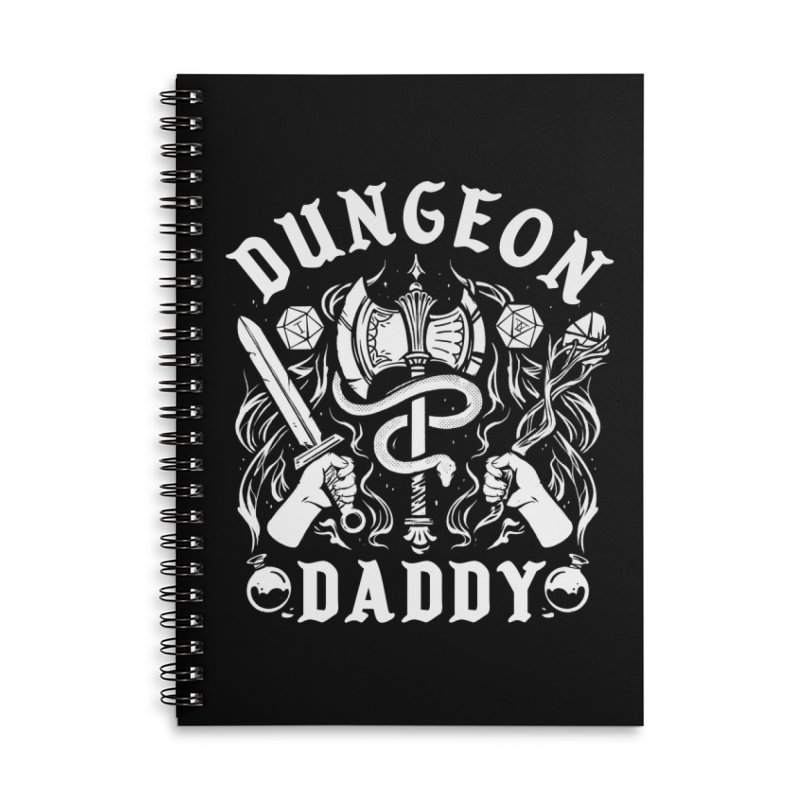 Dungeon Daddy Accessories Lined Spiral Notebook by Kaylee Pinecone's Artist Shop