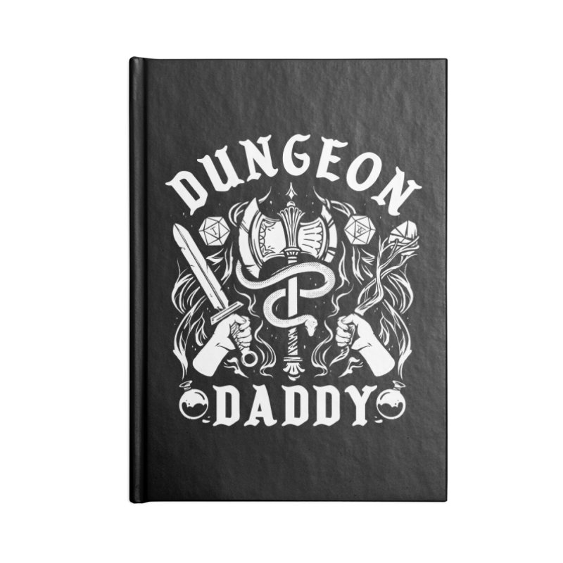 Dungeon Daddy Accessories Lined Journal Notebook by Kaylee Pinecone's Artist Shop