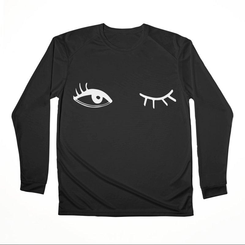 Wink Wink Reverse Women's Longsleeve T-Shirt by Kayt Miller merch