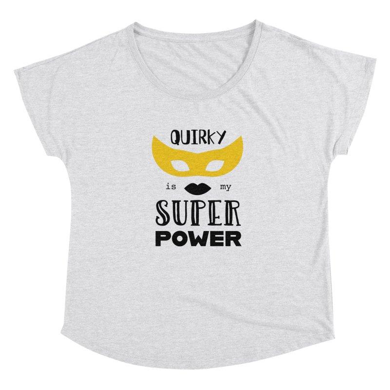 Quirky Super Power Women's Scoop Neck by Kayt Miller Merch