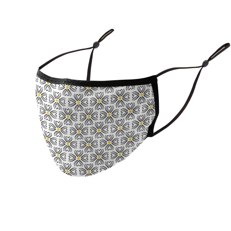 Kayt Miller Exclusive Pattern: Hot Pepper Flowers Accessories Face Mask by Kayt Miller merch