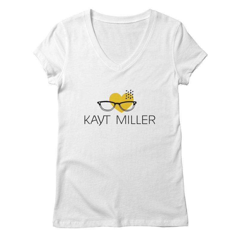 Kayt Miller Logo Women's V-Neck by Kayt Miller merch