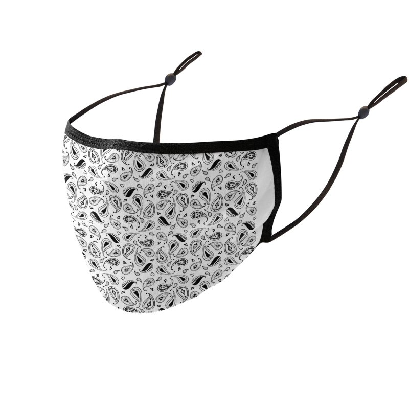 Kayt Miller Exclusive Pattern Paisley Hearts Accessories Face Mask by Kayt Miller merch