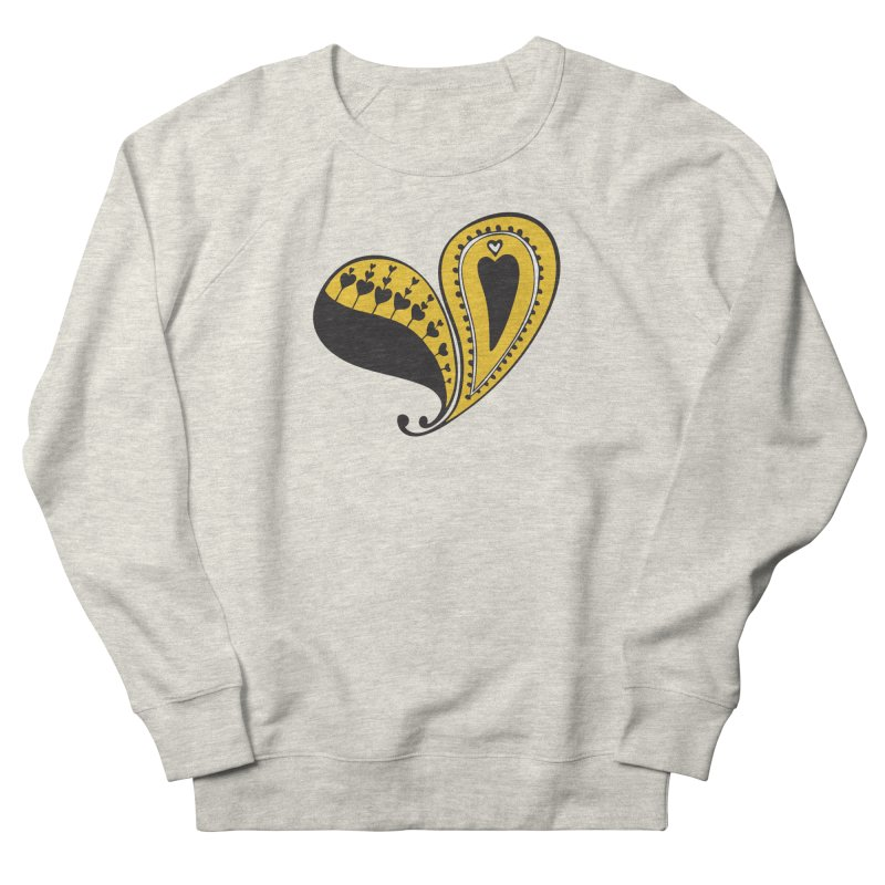 Kayt Miller Exclusive Paisley Heart Yellow Men's Sweatshirt by Kayt Miller merch