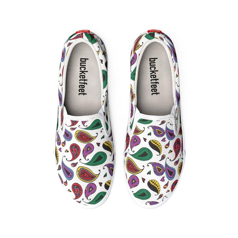 Kayt Miller Exclusive Paisley Heart Multi Large Men's Shoes by Kayt Miller merch