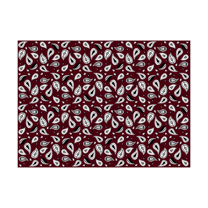Kayt Miller Exclusive Paisley Hearts Maroon Accessories Zip Pouch by Kayt Miller Merch