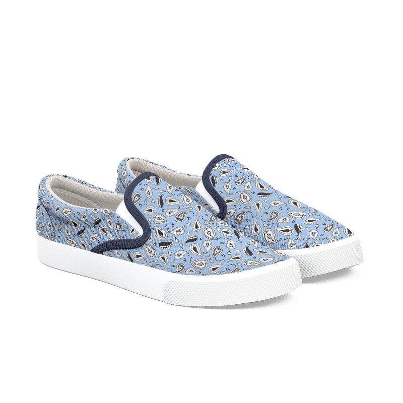 Kayt Miller Exclusive Paisley Hearts Light Blue Men's Shoes by Kayt Miller merch