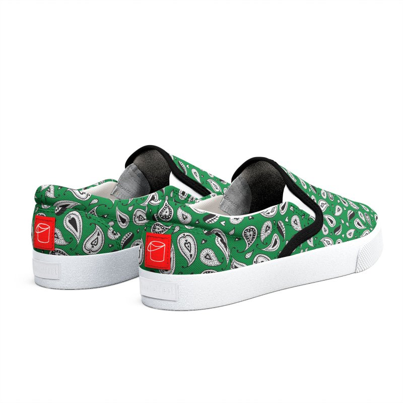 Kayt Miller Exclusive Paisley Hearts Green Men's Shoes by Kayt Miller Merch