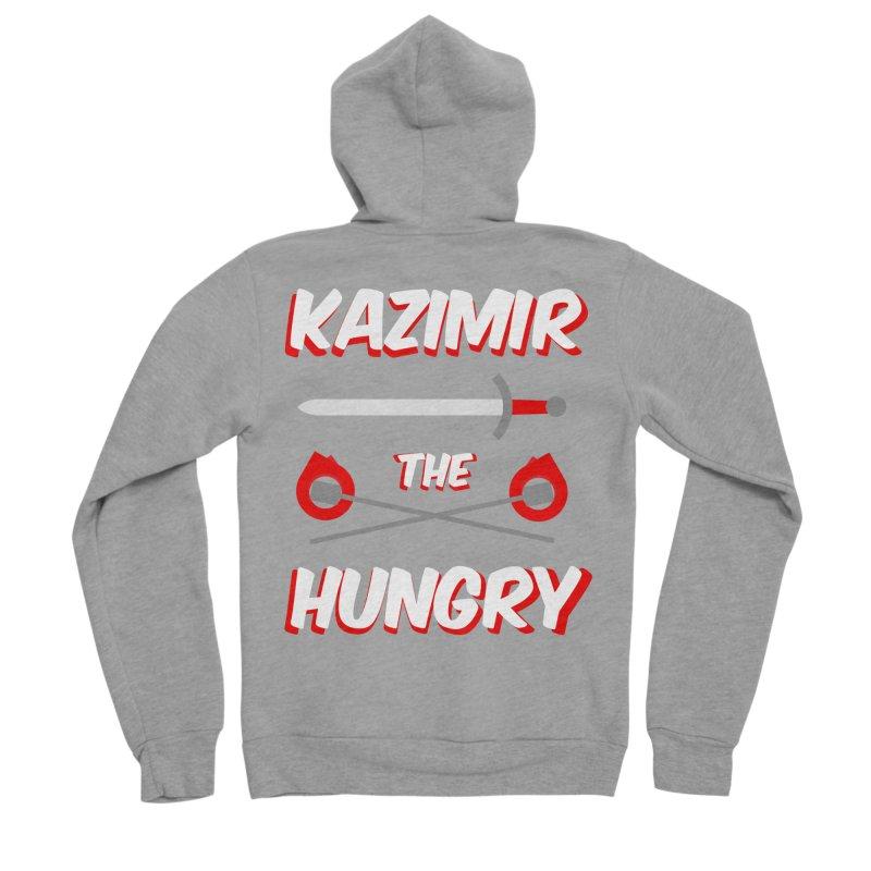 Sword and Torches Women's Sponge Fleece Zip-Up Hoody by Kazimir the Hungry Merchandise