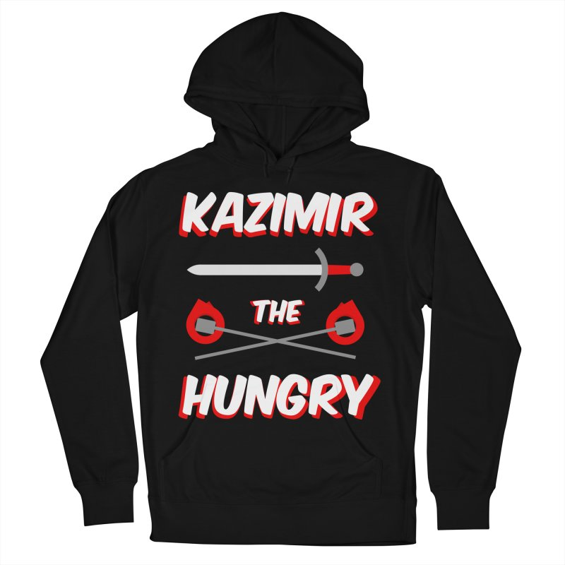 Sword and Torches Men's French Terry Pullover Hoody by Kazimir the Hungry Merchandise