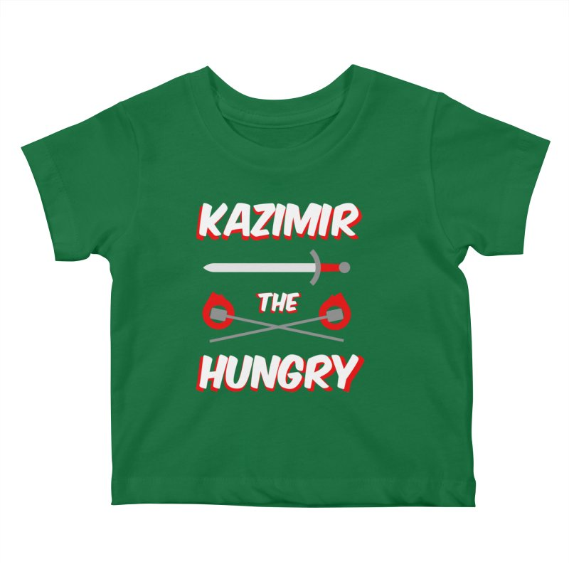 Sword and Torches Kids Baby T-Shirt by Kazimir the Hungry Merchandise