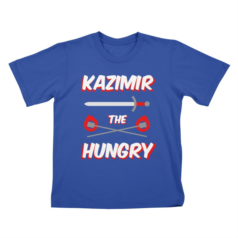 Sword and Torches Kids T-Shirt by Kazimir the Hungry Merchandise