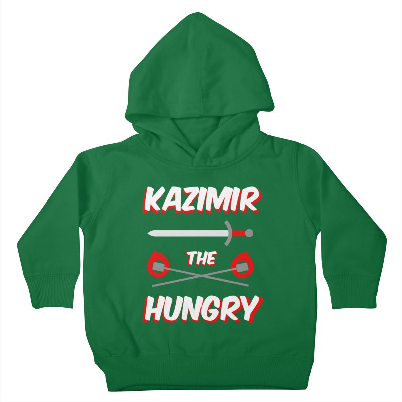 Sword and Torches Kids Toddler Pullover Hoody by Kazimir the Hungry Merchandise
