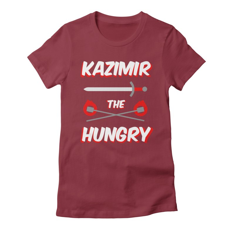 Sword and Torches Women's Fitted T-Shirt by Kazimir the Hungry Merchandise