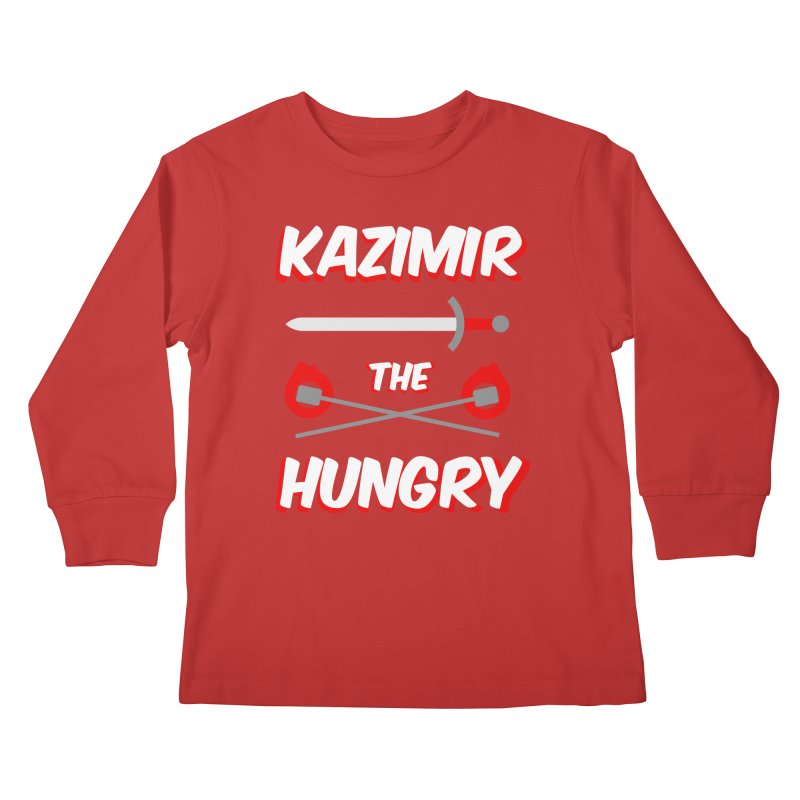 Sword and Torches Kids Longsleeve T-Shirt by Kazimir the Hungry Merchandise