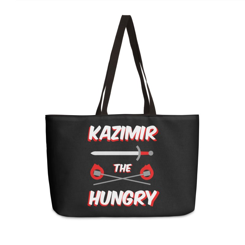Sword and Torches Accessories Weekender Bag Bag by Kazimir the Hungry Merchandise