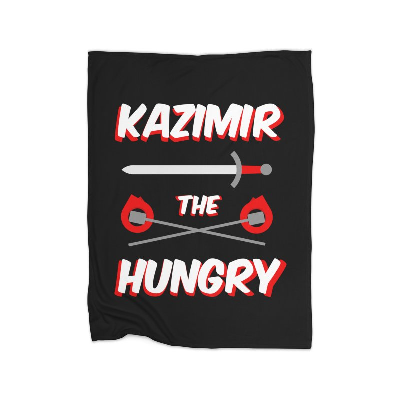 Sword and Torches Home Fleece Blanket Blanket by Kazimir the Hungry Merchandise