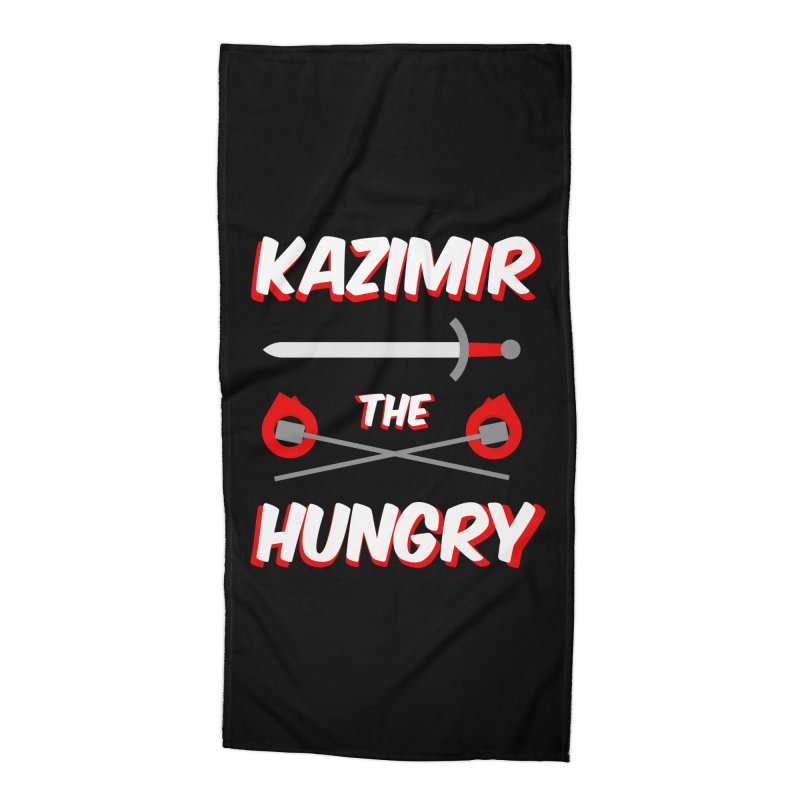 Sword and Torches Accessories Beach Towel by Kazimir the Hungry Merchandise