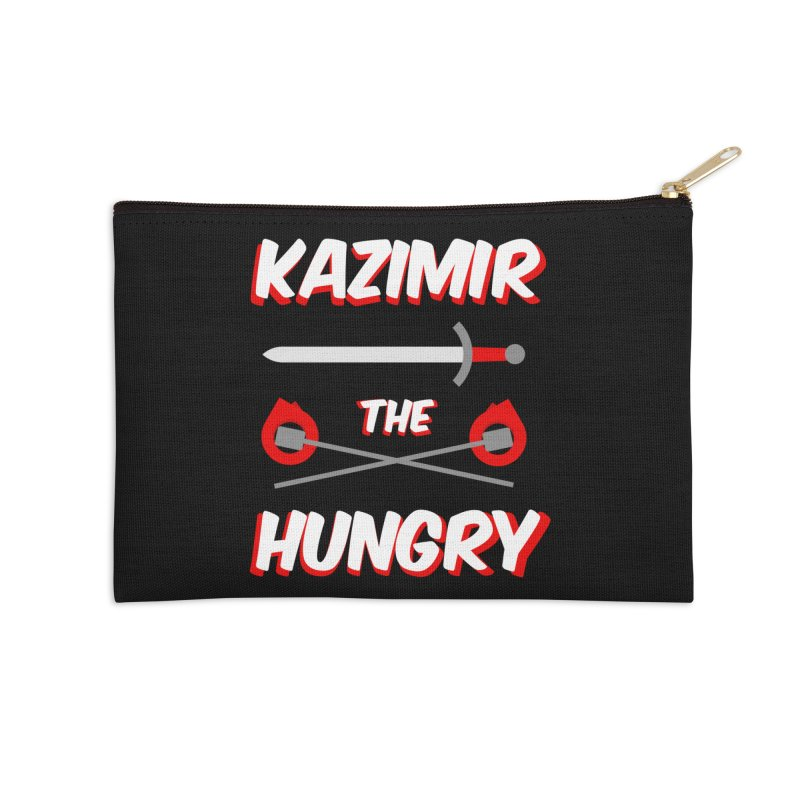 Sword and Torches Accessories Zip Pouch by Kazimir the Hungry Merchandise