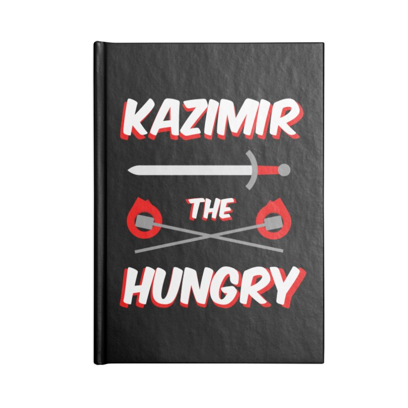 Sword and Torches Accessories Lined Journal Notebook by Kazimir the Hungry Merchandise
