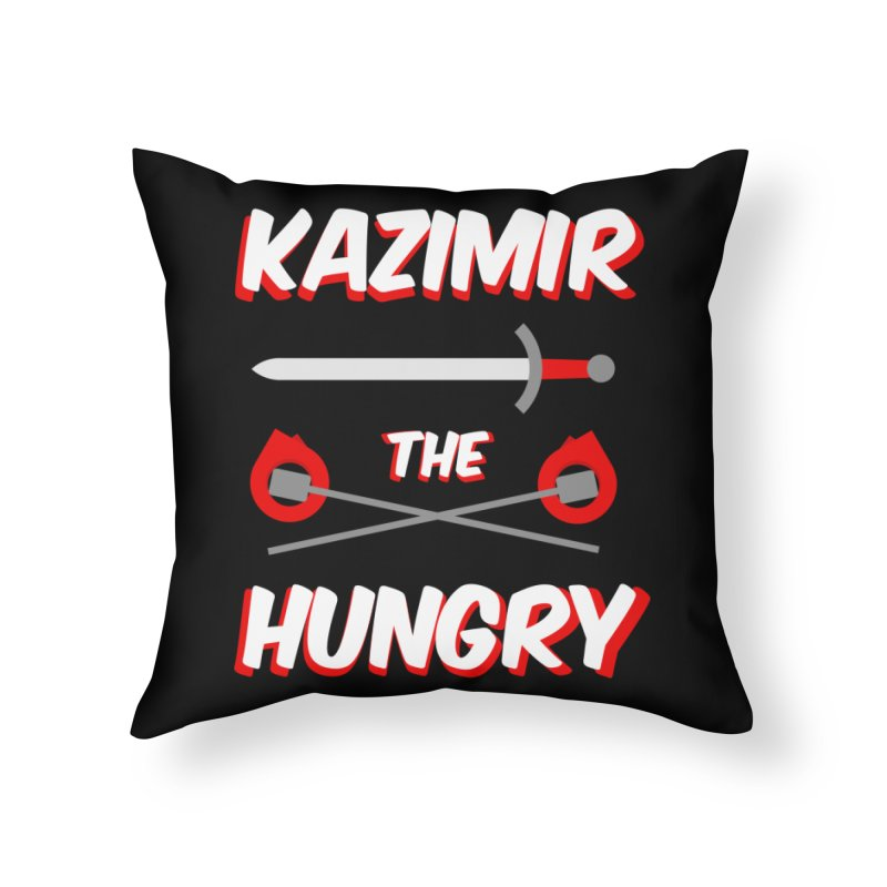 Sword and Torches Home Throw Pillow by Kazimir the Hungry Merchandise