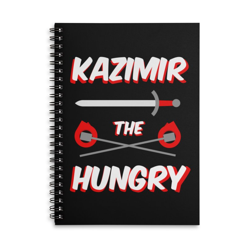 Sword and Torches Accessories Lined Spiral Notebook by Kazimir the Hungry Merchandise