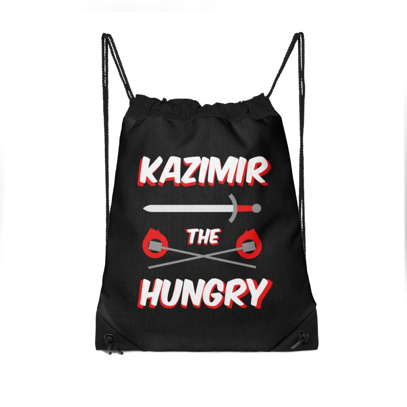 Sword and Torches Accessories Drawstring Bag Bag by Kazimir the Hungry Merchandise