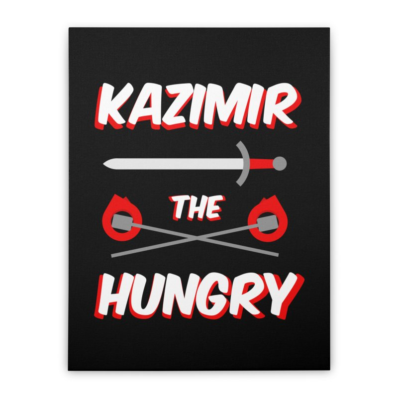 Sword and Torches Home Stretched Canvas by Kazimir the Hungry Merchandise