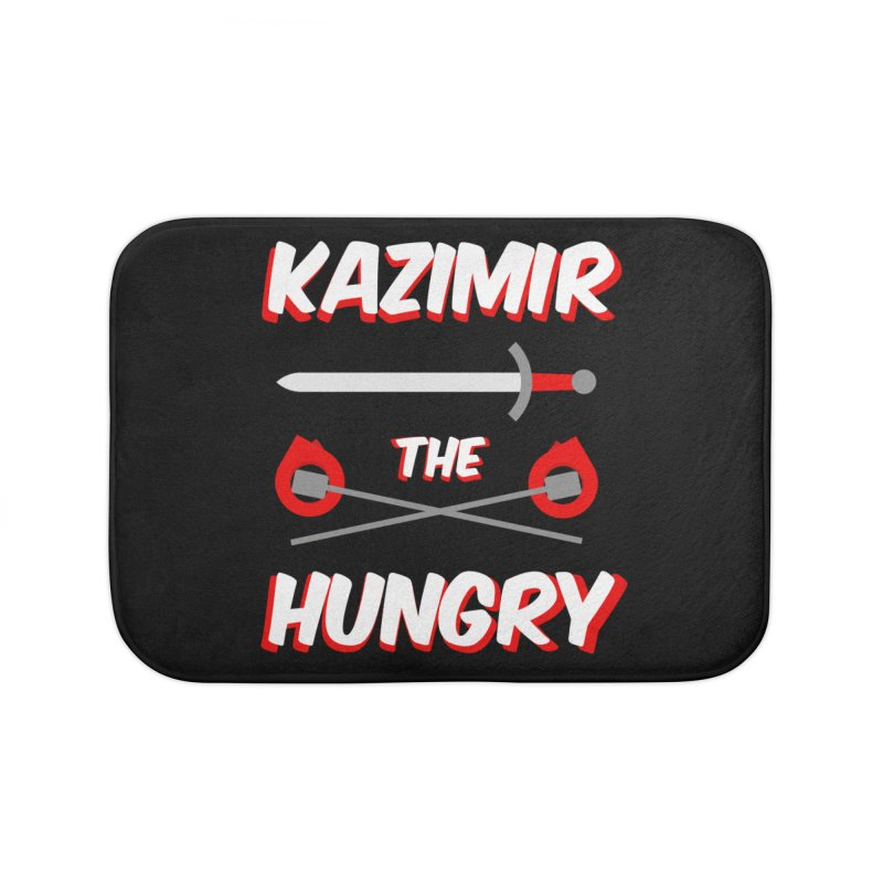 Sword and Torches Home Bath Mat by Kazimir the Hungry Merchandise