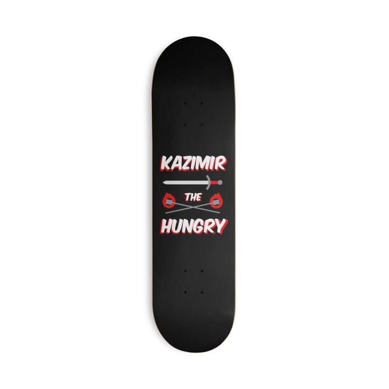 Sword and Torches Accessories Deck Only Skateboard by Kazimir the Hungry Merchandise
