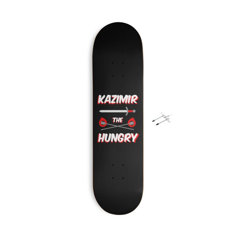Sword and Torches Accessories With Hanging Hardware Skateboard by Kazimir the Hungry Merchandise