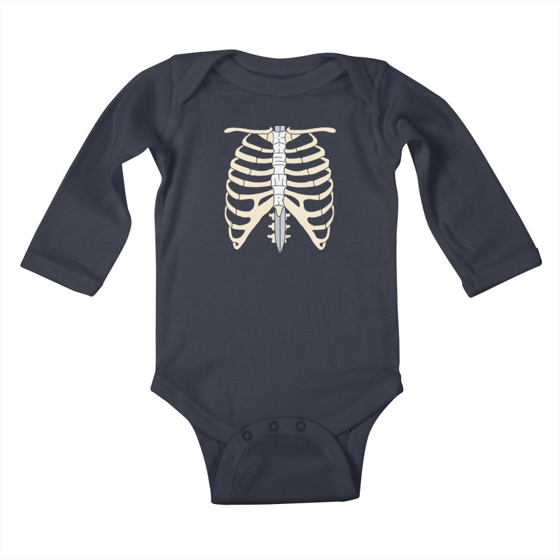Sword and Ribs Kids Baby Longsleeve Bodysuit by Kazimir the Hungry Merchandise