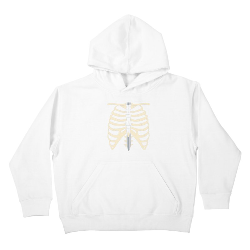 Sword and Ribs Kids Pullover Hoody by Kazimir the Hungry Merchandise