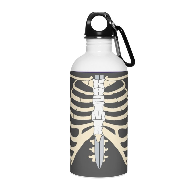 Sword and Ribs Accessories Water Bottle by Kazimir the Hungry Merchandise