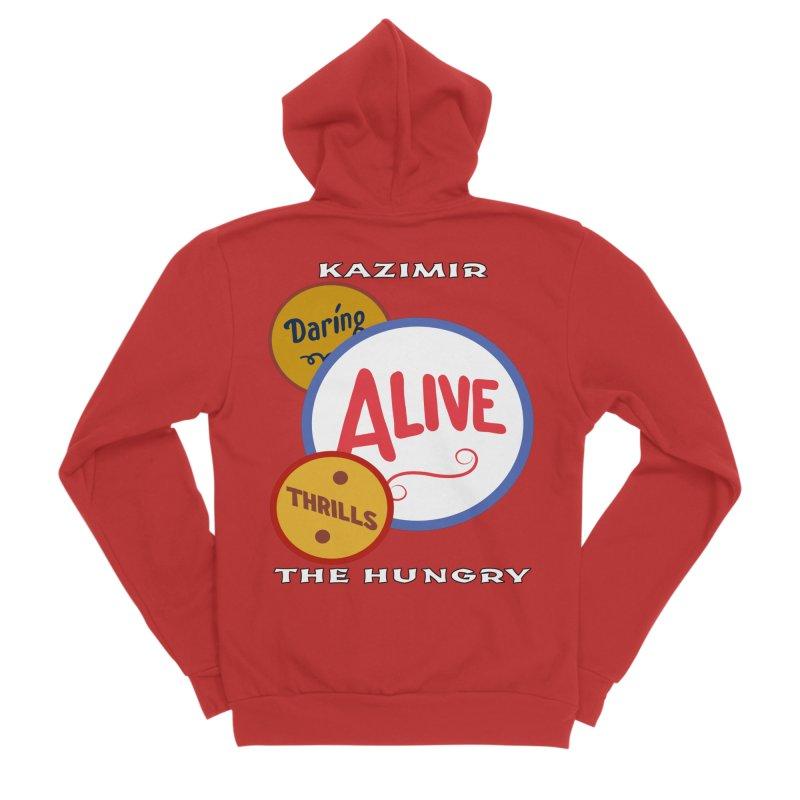 Alive! Women's Sponge Fleece Zip-Up Hoody by Kazimir the Hungry Merchandise