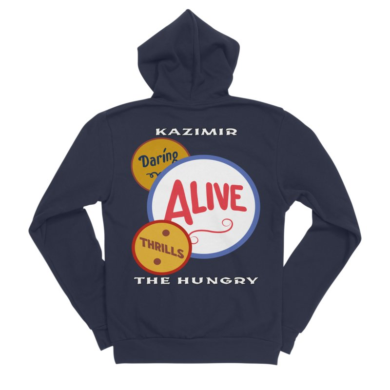 Alive! Men's Sponge Fleece Zip-Up Hoody by Kazimir the Hungry Merchandise